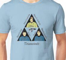 Star Trek Triumvirate - Black Text for Light shirts Unisex T-Shirt