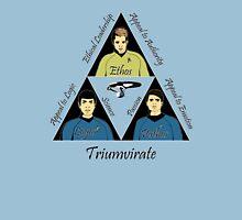 Star Trek Triumvirate - Black Text for Light shirts T-Shirt