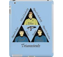 Star Trek Triumvirate - Black Text for Light shirts iPad Case/Skin