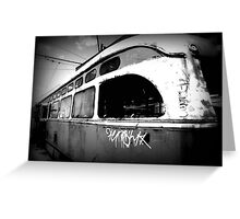 """""""All aboard the train for those who have abandoned all hope! All Aboard!"""" Greeting Card"""