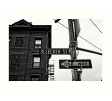 Bleecker Street, NYC Art Print