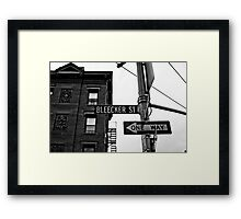 Bleecker Street, NYC Framed Print