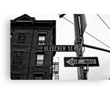 Bleecker Street, NYC Canvas Print