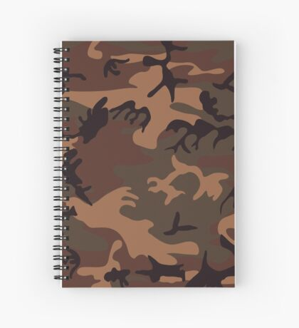 Army Camouflage by Chillee Wilson Spiral Notebook