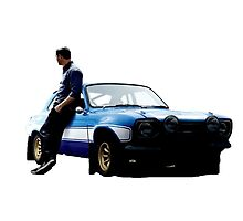 Paul walker with car by Green-TShirts