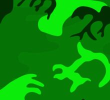 Army Camouflage by Chillee Wilson Sticker