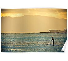 Paddle Boarding in Hawai'i Poster