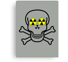 NUCLEAR FALL-OUT SKULL & CROSSBONES by Chillee Wilson Canvas Print