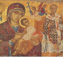 Mother Mary Christian icon St Nicholas  by Royalcollector