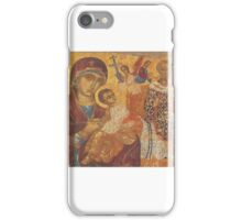 Mother Mary Christian icon St Nicholas  iPhone Case/Skin