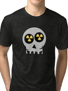 NUCLEAR FALL-OUT SKULL by Chillee Wilson Tri-blend T-Shirt