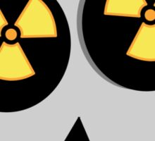 NUCLEAR FALL-OUT SKULL by Chillee Wilson Sticker