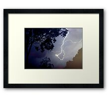 What A Storm Framed Print