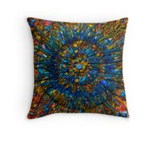 Z-Brush Flower Throw Pillow