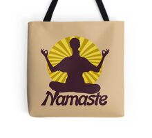 Namaste peaceful meditation  Tote Bag