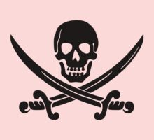 Pirate Flag Skull and Crossed Swords by Chillee Wilson One Piece - Short Sleeve