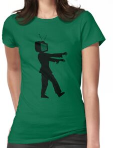 Zombie TV Guy by Chillee Wilson Womens Fitted T-Shirt