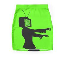 Zombie TV Guy by Chillee Wilson Pencil Skirt