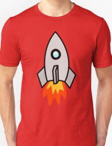 Rocket Ship 2 by Chillee Wilson T-Shirt