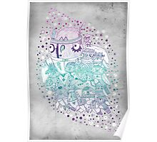 Glam fashion owls Poster