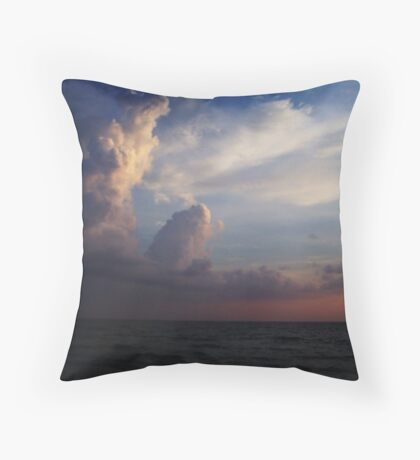 when the HEAVENS touch the sea Throw Pillow
