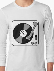 Retro Record Player by Chillee Wilson Long Sleeve T-Shirt