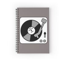 Retro Record Player by Chillee Wilson Spiral Notebook