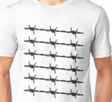 Barbed Wire by Chillee Wilson Unisex T-Shirt
