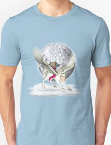 Long Way Down .. pegasus in the clouds Unisex T-Shirt