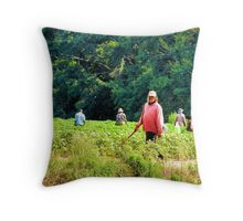 Weed Chopping Time in the South Throw Pillow