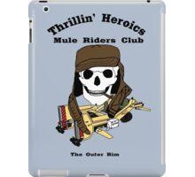Thrillin' Heroics Mule Riders Club logo iPad Case/Skin