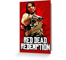 Red Dead Redemption Greeting Card