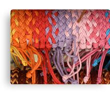 Coloured Knots Canvas Print