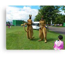 Glasgow kangaroos Canvas Print