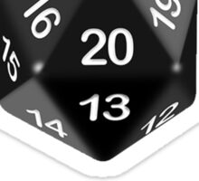 "It Was a Natural 20 When You Said ""Yes"" (d20 Role Playing Games) Sticker"