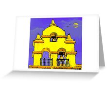 Yellow Bells, the Moon and Crows Greeting Card