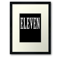 Eleven, Eleventh, 11, TEAM SPORTS NUMBER, Competition, WHITE Framed Print