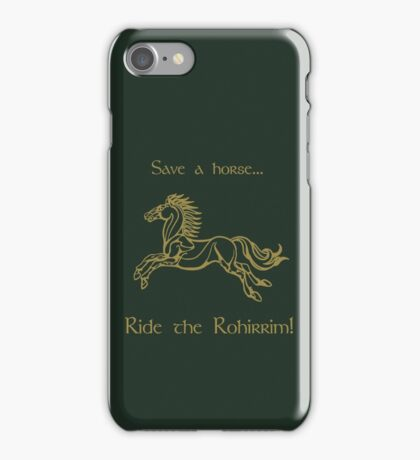 Save a horse... Ride the Rohirrim! - Tan iPhone Case/Skin