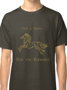 Save a horse... Ride the Rohirrim! - Tan Classic T-Shirt