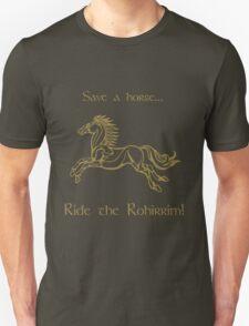 Save a horse... Ride the Rohirrim! - Tan T-Shirt