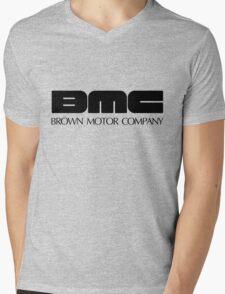 Brown Motor Company Mens V-Neck T-Shirt