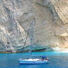 white cliffs - blue sea by Honor Kyne