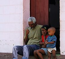 A smoke on the doorstep, Trinidad, Cuba by buttonpresser