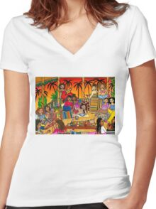 Ladies' Night Women's Fitted V-Neck T-Shirt