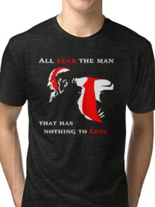 God of War Fear The Man Tri-blend T-Shirt