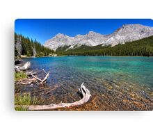 Blue tarn, blue sky Canvas Print