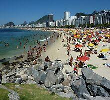 Copacabana Beach, Rio de Janeiro by Quasebart
