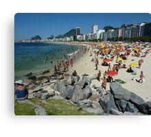 Copacabana Beach, Rio de Janeiro Canvas Print