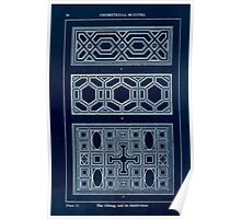 A Handbook Of Ornament With Three Hundred Plates Franz Sales Meyer 1896 0040 Geometrical Elements Oblong Subdivision Inverted Poster