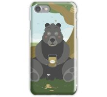 Bear with a jar of honey iPhone Case/Skin
